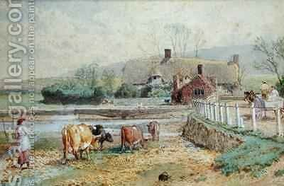 Near Freshwater Isle of Wight by Myles Birket Foster - Reproduction Oil Painting