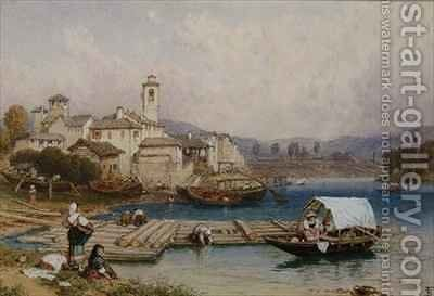 Lake Maggiore by Myles Birket Foster - Reproduction Oil Painting
