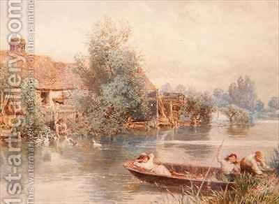 Messing About on the River by Myles Birket Foster - Reproduction Oil Painting