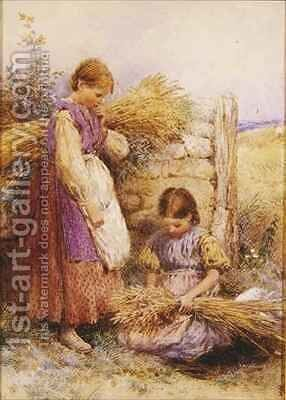 The Young Gleaners by Myles Birket Foster - Reproduction Oil Painting