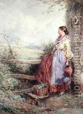 The Milkmaid 3 by Myles Birket Foster - Reproduction Oil Painting