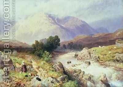 The Highlands near Argyle by Myles Birket Foster - Reproduction Oil Painting