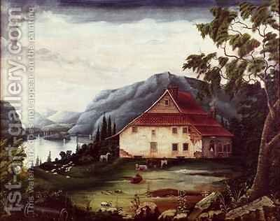 Washingtons headquarters at Newburgh on the Hudson by James William Fosdick - Reproduction Oil Painting