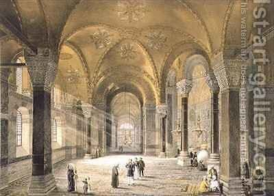 Haghia Sophia plate 5 the north entrance by (after) Fossati, Gaspard - Reproduction Oil Painting