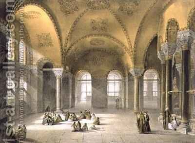 Haghia Sophia plate 12 the Meme Gallery in the south west corner by (after) Fossati, Gaspard - Reproduction Oil Painting