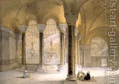 Haghia Sophia plate 11 the Meme Gallery in the south west corner by (after) Fossati, Gaspard - Reproduction Oil Painting