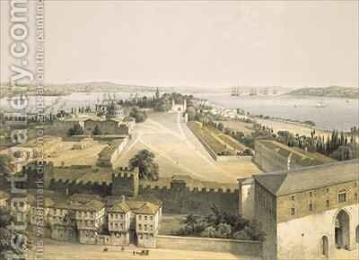 Panorama of Constantinople 2 by (after) Fossati, Gaspard - Reproduction Oil Painting