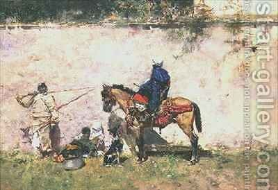 Moroccans by Mariano Fortuny y Marsal - Reproduction Oil Painting
