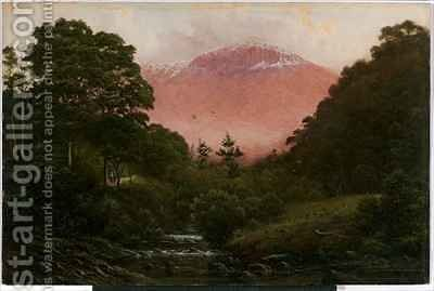 Mount Wellington from Cascades by Capt. John Haughton Forrest - Reproduction Oil Painting