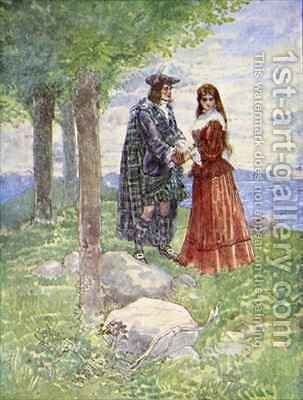 They took a sad farewell of each other by A.S. Forrest - Reproduction Oil Painting