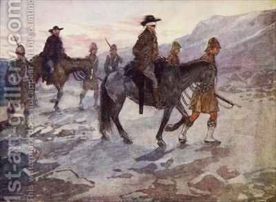The Boer leaders were blindfolded and guarded by soldiers of the Black Watch by A.S. Forrest - Reproduction Oil Painting