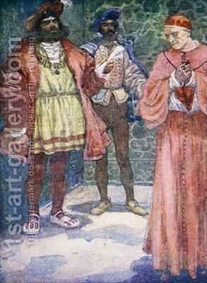 Henry sent Wolsey away from Court by A.S. Forrest - Reproduction Oil Painting