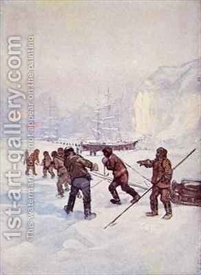 The ships were called the Terror and the Erebus by A.S. Forrest - Reproduction Oil Painting