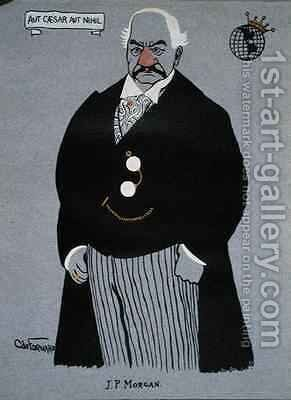 Caricature of John Pierpont Morgan 1837-1913 from Millionaires of America by Carlo de Fornaro - Reproduction Oil Painting