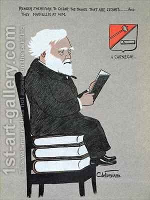 Caricature of Andrew Carnegie 1835-1919 by Carlo de Fornaro - Reproduction Oil Painting
