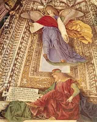 Amos and the Angel holding the pincers of the Passion from the Sacristry of St Mark by Melozzo da Forli - Reproduction Oil Painting