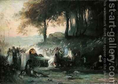 A Pagan Procession by Henri Foreau - Reproduction Oil Painting