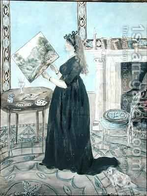 Portrait of Elizabeth Anne Fordyce by Jane Maxwell Fordyce - Reproduction Oil Painting