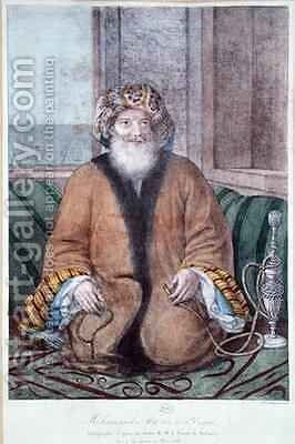 Mehemet Ali 1769-1849 Viceroy of Egypt by Auguste Forbin - Reproduction Oil Painting