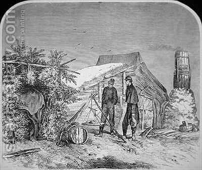 Sketches of Army Life  Weighing Out Rations by (after) Forbes, Edwin - Reproduction Oil Painting