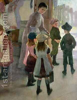 School is Out by Elizabeth Stanhope Forbes - Reproduction Oil Painting