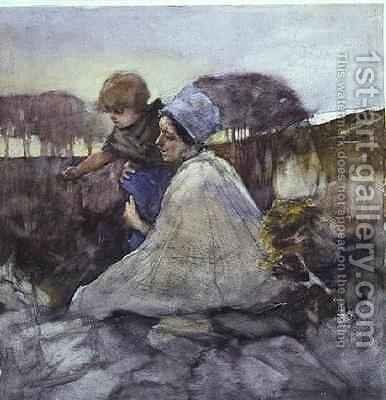 A Point of Interest by Elizabeth Stanhope Forbes - Reproduction Oil Painting