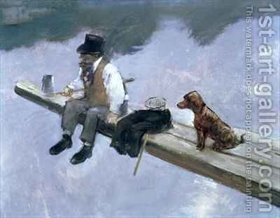 The Fisherman 2 by Jean-Louis Forain - Reproduction Oil Painting