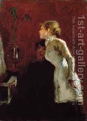 The Piano Lesson by Jean-Louis Forain - Reproduction Oil Painting