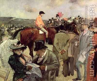 The Horse Race by Jean-Louis Forain - Reproduction Oil Painting