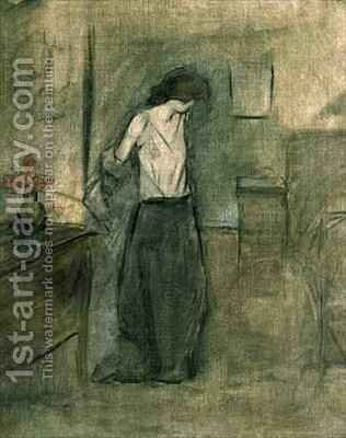 A Woman Undressing by Jean-Louis Forain - Reproduction Oil Painting
