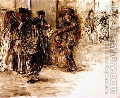 At the Court by Jean-Louis Forain - Reproduction Oil Painting