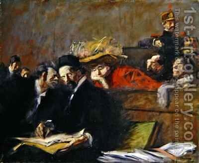 Court Audience by Jean-Louis Forain - Reproduction Oil Painting