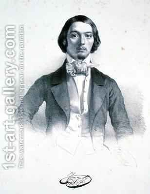 Adolfo Fumagalli 1828-56 by Alessandro Focosi - Reproduction Oil Painting