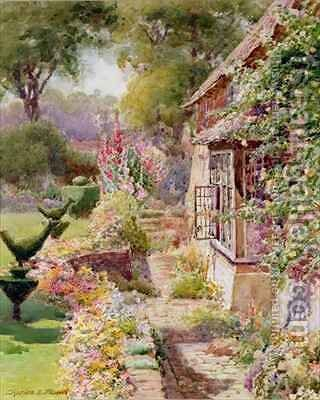 Kings Manor Garden at East Hendred by Charles Edwin Flower - Reproduction Oil Painting