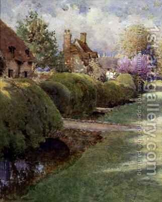 The Box Hedge Warborough Oxon by Charles Edwin Flower - Reproduction Oil Painting