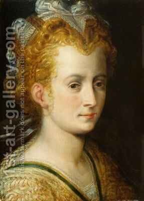 Head of a Young Woman by (attr. to) Floris, Frans - Reproduction Oil Painting