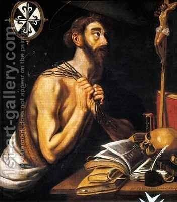 Peninent St Dominic by Alonso Florin - Reproduction Oil Painting