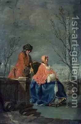 Winter 2 by Charles-Joseph Flipart - Reproduction Oil Painting