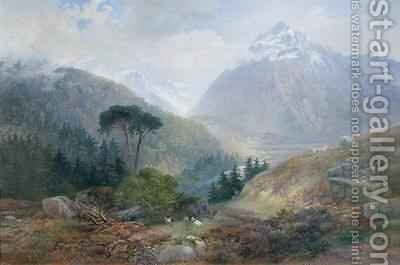 The View Toward the Fenderthal Tyrol by James Vivien de Fleury - Reproduction Oil Painting