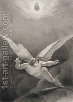 Satan leaps over the walls of Heaven by (after) Flatters, Richard Edmond - Reproduction Oil Painting