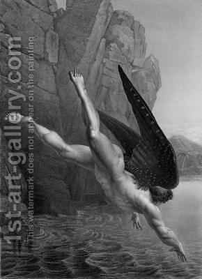 Satan plunges into the River Styx by (after) Flatters, Richard Edmond - Reproduction Oil Painting