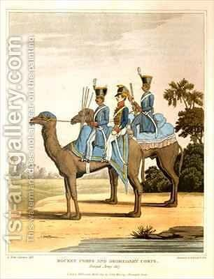Rocket Corps and Dromedary Corps Bengal Army by (after) Fitzclarence, George Augustus - Reproduction Oil Painting
