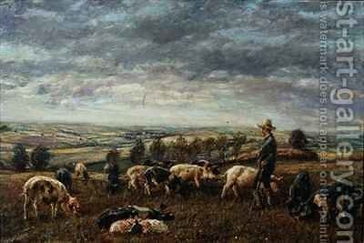 On the Sussex Downs by Mark Fisher - Reproduction Oil Painting