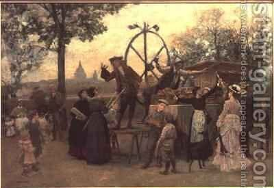 The Street Players by Marie Francois Firmin-Girard - Reproduction Oil Painting