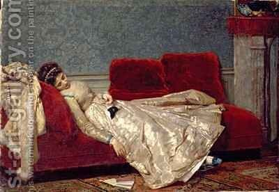 After The Ball by Marie Francois Firmin-Girard - Reproduction Oil Painting