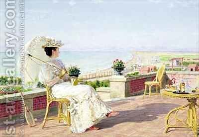 En Vacance by Marie Francois Firmin-Girard - Reproduction Oil Painting