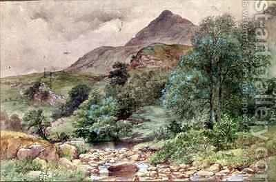 Moel Siabod North Wales by John Finnie - Reproduction Oil Painting