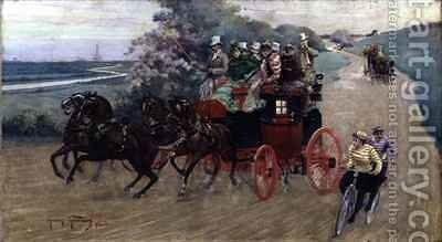The Stage Coach by Henry Finney - Reproduction Oil Painting