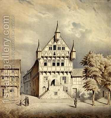 Fritzlar Town Hall by Carl W.E. Fink - Reproduction Oil Painting