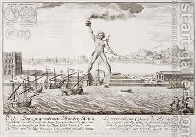 The Colossus of Rhodes by (after) Fischer von Erlach, Johann Bernhard - Reproduction Oil Painting